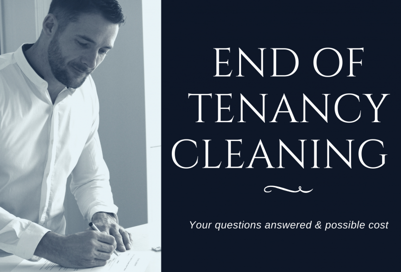 End of Tenancy Cleaning - Your questions answered & possible cost